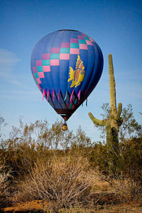 Hot Air Balloon Flight over Arizona Saguaros