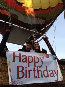 Phoenix Arizona balloon ride Birthday