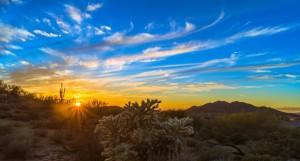 Sunrise balloon ride Phoenix AZ