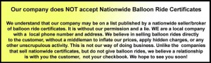 Buyer Beware balloon rides